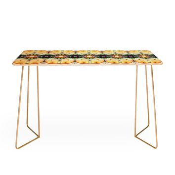 Ginette Fine Art Yellow Butterfly Desk