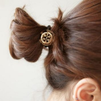 Tory burch Adorn the head adorn the vogue of the vogue of the round leopard print hair ring female.
