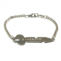 TOMS Marketplace The Giving Keys Silver Never Ending Bracelet