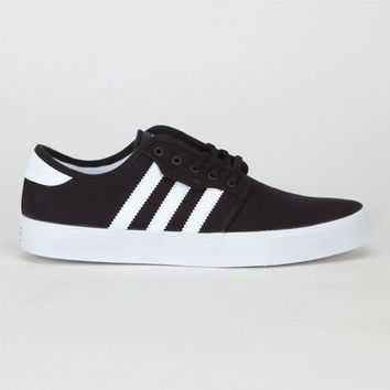 Adidas Seeley J Boys Shoes Black/Running White/Black  In Sizes