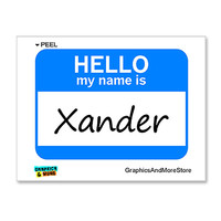Xander Hello My Name Is Sticker