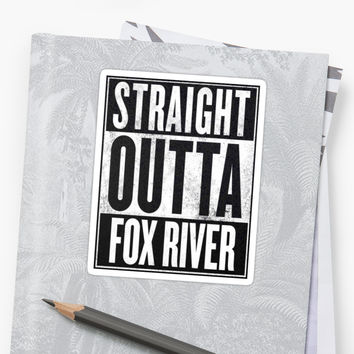 'Prison Break - Straight Outta' Sticker by GreysGirl