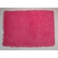 Fun Rugs Flokati Collection Hot Pink Area Rug