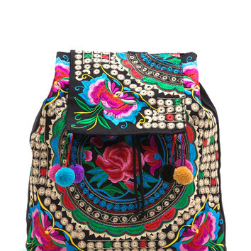 Bali Vacay Embroidered Floral Backpack GoJane.com