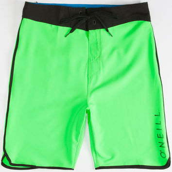 O'neill Hyperfreak Santa Cruz Scallop Mens Boardshorts Green  In Sizes