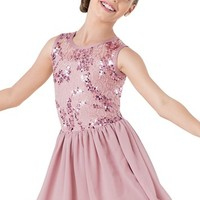 Weissman™ | Sequin Lace Georgette Dress