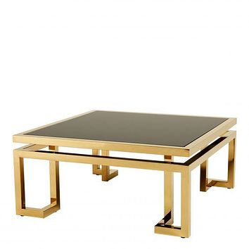 Floating Top Gold Coffee Table | Eichholtz Palmer