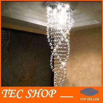 Best Price K9 Crystal Chandeliers Duplex Staircase Crystal Lights LED Ceiling Lamp Triple Spiral lustres de cristal pendentes