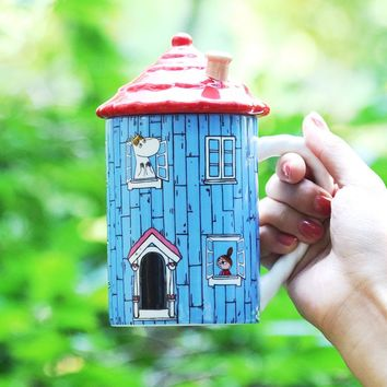 New Direct Selling Ceramic Moomin Cup Cartoon Mug MOOMIN Hello - House Creative Zakka Glass Cup