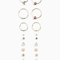 Cosmic Stud and Earrings Set