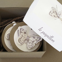 Butterfly Tags and Gift Box Set - Handmade