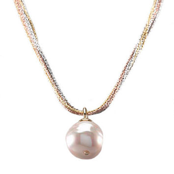 Majorica Baroque Organic Man-Made Pearl Pendant Necklace