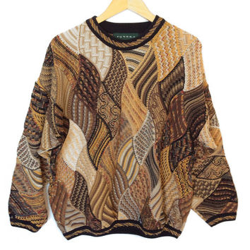 Tundra Trippy Patchwork Ugly Golf or Huxtable / Cosby Sweater