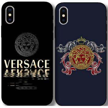 Stylish VERSACE Case For iPhone 7 7plus iphone 8 iphone X XS Max XR