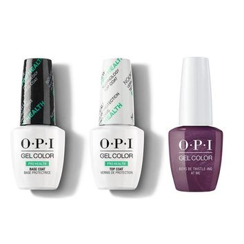 OPI - GelColor Combo - Base, Top & Boys Be Thistle-ing At Me