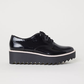 Patent Platform Shoes - Black - Ladies | H&M US