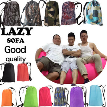 260*70cm Camping Fast Inflatable Air Sofa Bed Climbing Rest Air Sleep Lazy sofa Hangout Banana Sleeping Bag Outdoor Lazy Laybag