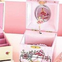 Kid's Girl's Dancing Ballerina Flower Waltz Jewelry Box With Storage Bedroom
