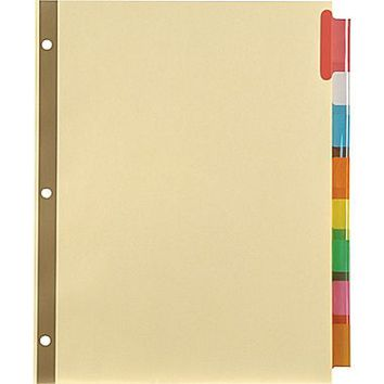 Staples® Insertable Big Tab Dividers with Buff Paper | Staples®