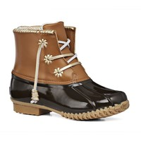 Chloe Classic Duck Boot in Dark Brown by Jack Rogers - FINAL SALE