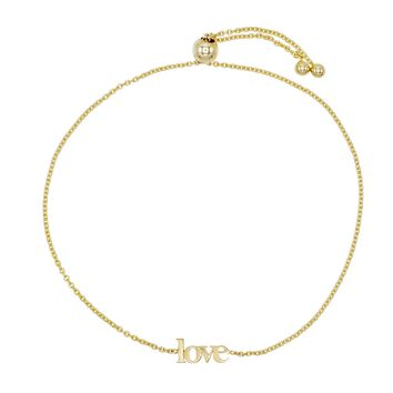 Love Lowercase Bracelet 14K