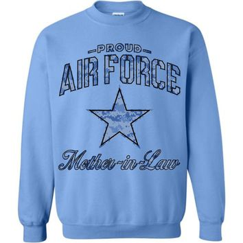 Proud Air Force Mother-in-Law Sweatshirt (Camo)