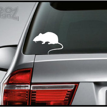 Rat - Bumper sticker, car decal, Vinyl, Mac decals, Apple Decal, Laptop