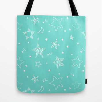 Star Doodles Tote Bag by Ariel Lark