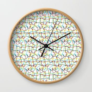Scribbled Unicorns Wall Clock by That's So Unicorny