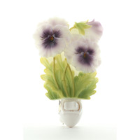 Pansy Night Light, Ibis & Orchid Nightlights, NIB, 50017
