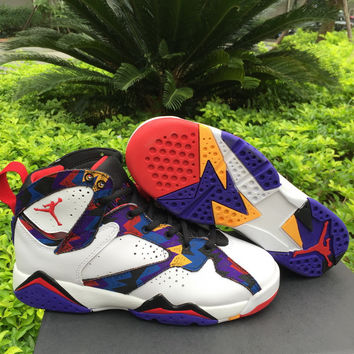 "Air Jordan 7 ""Sweater"" Unisex Basketball Shoes"