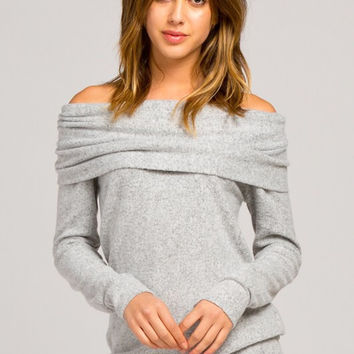 A Cozy Touch Top - Heather Grey