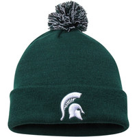 Michigan State Spartans Top of the World Simple Knit w/ Pom Beanie – Green