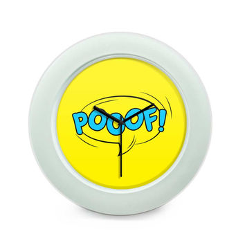 Comic Poof Table Clock