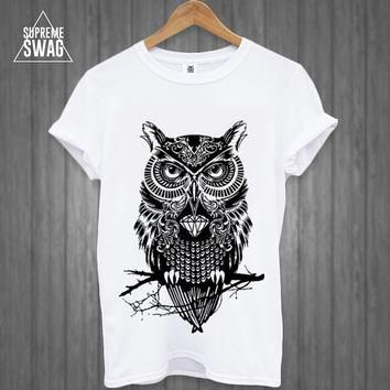 Mens swag hipster owl tattoo T-SHIRT new FRESH Breaking Bad OFWGKTA dope cool trill su