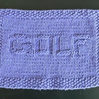 Handy Hand Knitted Pretty Purple  Golf Picture Cloth