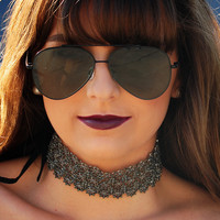 She's Got The Look Choker: Black/Silver