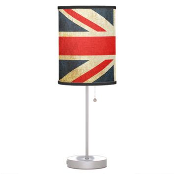 Vintage Union Jack British Flag Table Lamp
