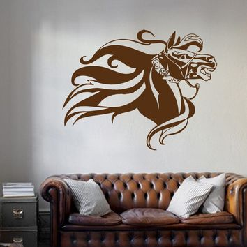 ik680 Wall Decal Sticker head horse nag pet stallion thoroughbred horse bedroom