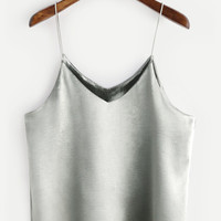 Silver Swing Satin Cami Top