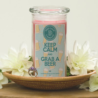 Keep Calm and Grab a Beer - Keep Calm Candles