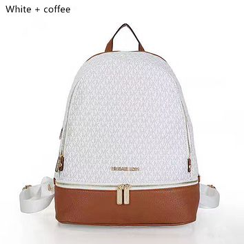MK  Women Leather Bookbag Shoulder Bag Handbag Backpack