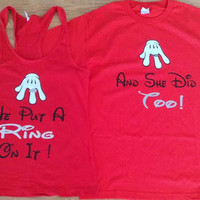 Free/Fast Shipping for US Put A Ring On It Couples T Shirts