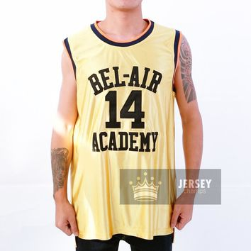 Gold Will Smith Bel Air Academy Basketball Jersey #14