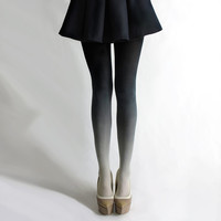 Ombré tights in Coal by BZRBZR
