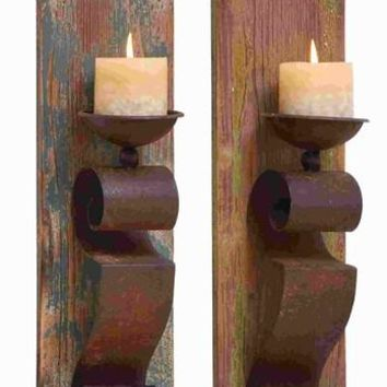 Candle Sconces, Elegant and Sophisticated, 2-Piece Set