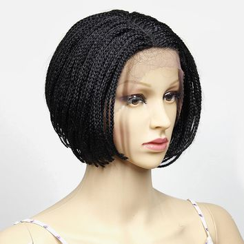 YXCHERISHAIR Synthetic  Crochet Box Braids Hair  Lace Front Wigs