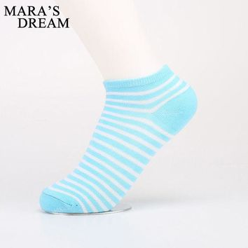 DCCKLG2 5 Pairs/ Lot Candy Stripe Cute Ankle Socks