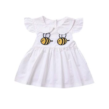 LIttle Girl's Bumble Bee Summer Dress