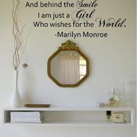 Beneath the Makeup and behind the Smile....Marilyn Monroe Vinyl Wall Decal